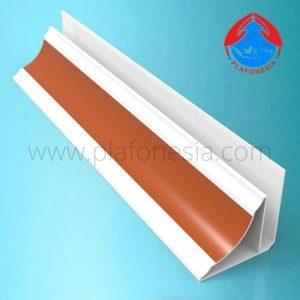 Lis Plafon PVC Plafonesia LPN 98 coklat