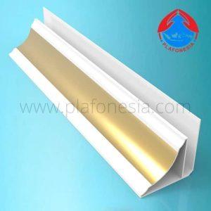 Lis Plafon PVC Plafonesia LPN98 gold