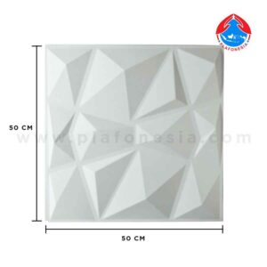 wall 3D white geometric plafonesia
