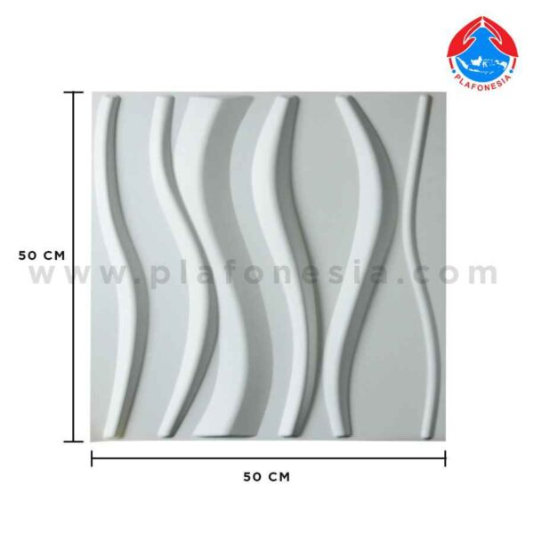 wall 3D white short line plafonesia