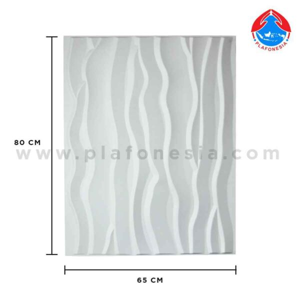 wall 3D white waves plafonesia