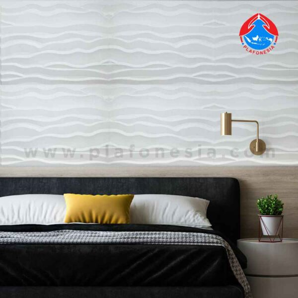 wall 3D white waves plafonesia design